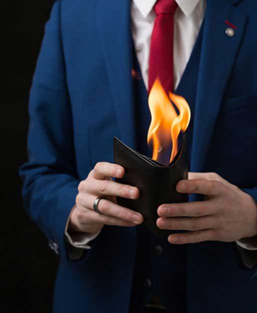 Wedding Magician Flames